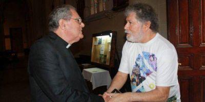 Monseñor Ojea recibió a trabajadores de Sancor y al titular de ATILRA: pidieron audiencia con el presidente Alberto Fernández