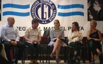 La Ministra de Trabajo Bonaerense en Mar del Plata: Reunión con la CGT y CTA y radiografía de la crisis