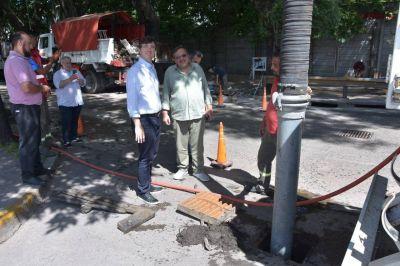 Intervención integral para el desagote de la calle Valentín Gómez en Haedo