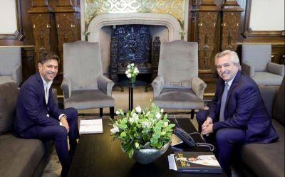 Previo al tratamiento de la Ley Impositiva, Fernández recibió a Kicillof en Casa Rosada