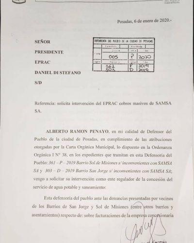 Piden suspender los cobros de SAMSA a vecinos que no usan el servicio