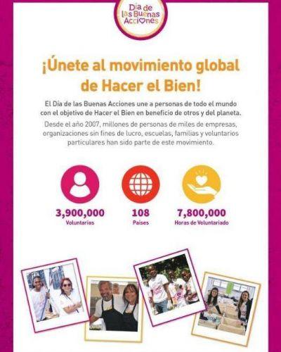"""El """"Día de las Buenas Acciones"""" es un movimiento global para hacer el bien"""