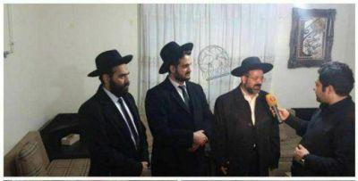 Tres rabinos de la comunidad judía de Irán expresaron sus condolencias en la casa de la familia de Soleimani