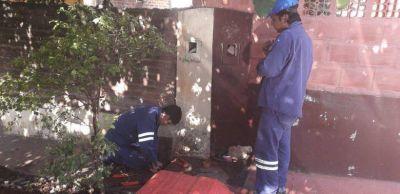 Con intervención de Eprac, restituyen servicio de agua potable