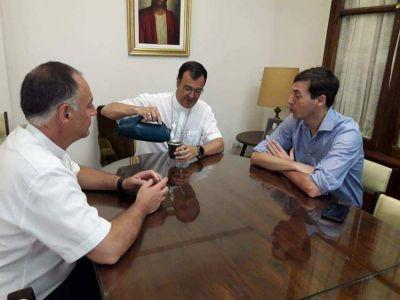 Mons. Mestre se reunió con el presidente del Concejo Deliberante