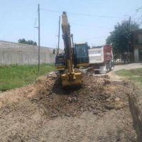 En Don Torcuato, el municipio tigrense comenzó una nueva obra de pavimentación