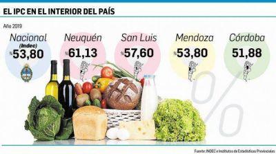 Medición en provincias: hasta 61% de inflación en el 2019