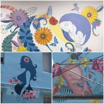"""""""Pañuelazo"""" para pedir se destapen murales censurados en un hospital"""