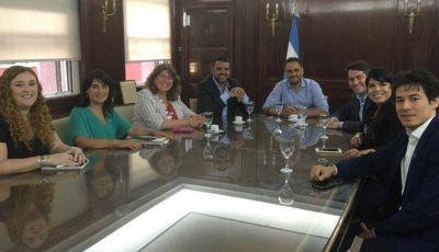 Vuoto y Perez se reunieron con el Ministro de Ambiente Nacional
