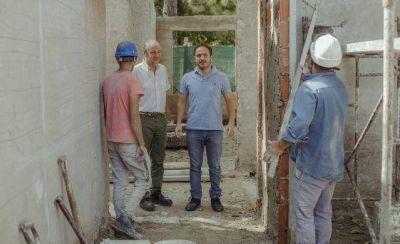 Campana realiza importantes obras de ampliación en la escuela de Las Praderas