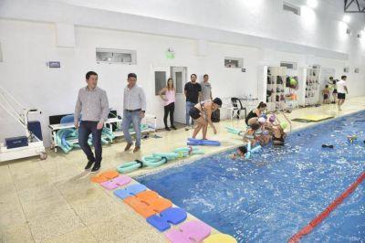 Nardini visitó la Colonia de Vacaciones en el Polideportivo de Los Polvorines