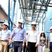 Costa visitó un parque industrial y recorrió dos empresas junto al intendente de Pilar