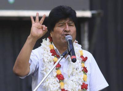 Menéndez, Moyano y Yasky: los dirigentes que acompañaron a Evo Morales en Deportivo Español