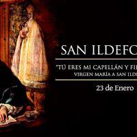 Hoy la Iglesia celebra a San Ildefonso, capellán y fiel notario de la Virgen