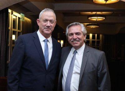 Alberto Fernández se reunió con Benny Gantz, líder de la oposicón israelí