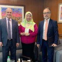El Embajador argentino se reunió con la Directora General de Asuntos Marítimos de la Cancillería de Malasia