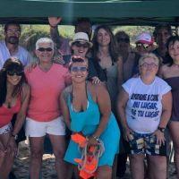 Flavia Delmonte encabezó otra jornada de concientización sobre limpieza de playas