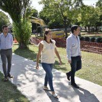"""Nardini recorrió las inmediaciones de la Plaza """"Domingo Miguel Azar"""""""