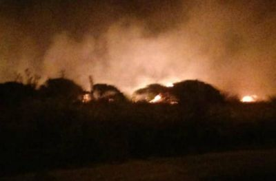 Se incendió parte del predio de OSSE en Ruta 11