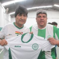 Partido de fútbol mediante, Pablo Moyano ratificó su respaldo a Evo Morales