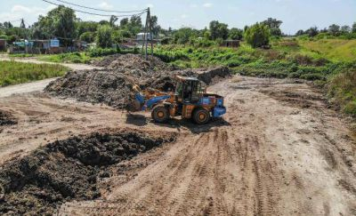 En Maquinista Savio, Escobar duplica la capacidad del reservorio hidráulico de la calle Mocoví