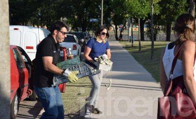 Exitosa recolección de residuos electrónicos en el Parque del Bicentenario