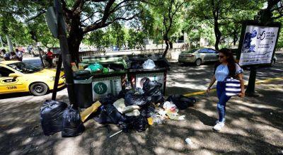 Quedaron en las calles unas 3.000 toneladas de basura