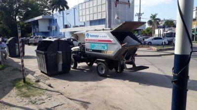 El Municipio refuerza servicio de recolección de residuos en el microcentro