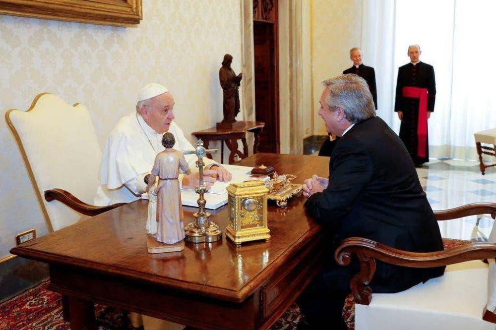El papa Francisco y Alberto Fernández se reunieron durante 44 minutos en el Vaticano