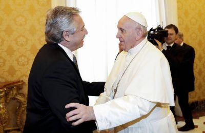 Reunión con el papa y misa con la comitiva argentina, día 1 de Alberto en el Vaticano