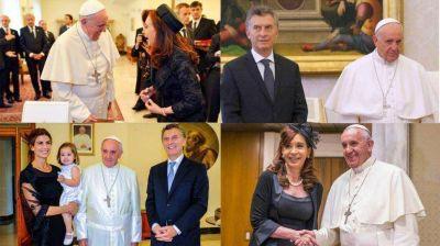 Francisco y los presidentes argentinos: cuántas veces se reunió con cada uno