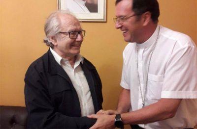 Mestre con Pérez Esquivel: