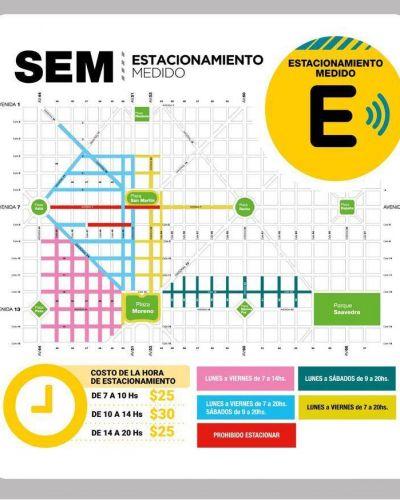 Sube el precio del estacionamiento medido en La Plata