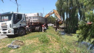 Extrajeron seis mil metros cúbicos de basura del Canal Maestro Sur