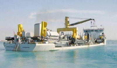 La draga más grande de la región operará en el área Bahía Blanca