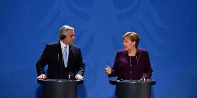 Empresarios, Merkel y una ayuda ante el FMI: el paso de Alberto por Berlín