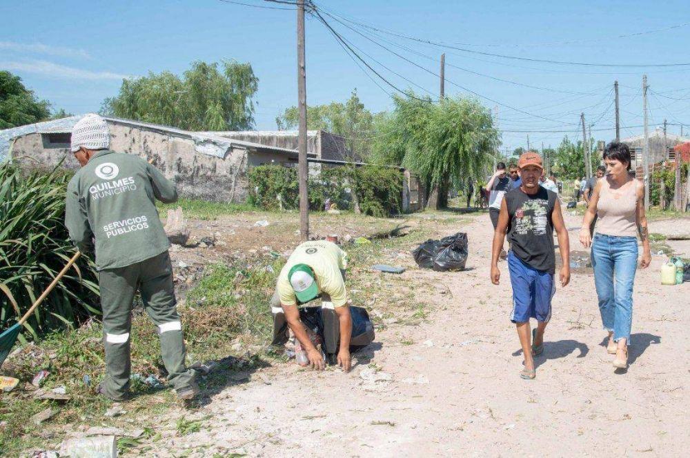 Quilmes: operativos de limpieza en Villa Luján y la Ribera