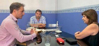 Abella se reunió con la ex ministra de Seguridad, Patricia Bullrich