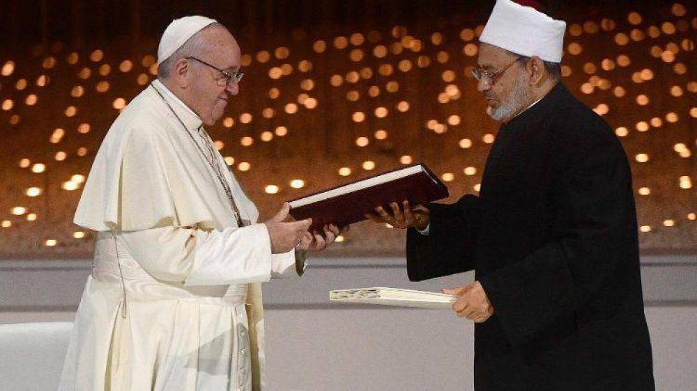 A un año de la Declaración de Abu Dhabi el Papa insta a un futuro libre de odio