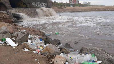 Una postal que se repite: la playa de Constitución llena de basura