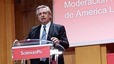 Deuda, aborto, pobreza y Macri: las frases clave de Alberto en Francia
