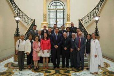 El presidente de la Asociación Islámica del Perú, entre las personalidades recibidas por el Presidente peruano