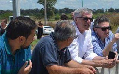 General Belgrano: Dinápoli preocupado por evitar inundaciones se reunió con titular de Hidráulica
