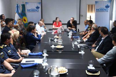 Mariel Fernández recibió al ministro de Seguridad Sergio Berni