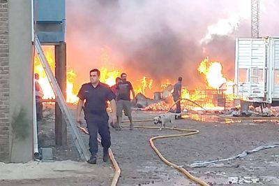 Luego del incendio en la firma Reciclad, la empresa retoma las actividades laborales