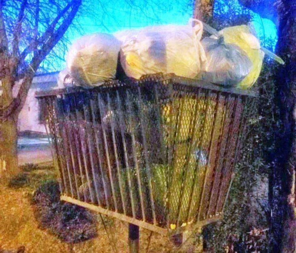 Piden no depositar vidrios sueltos en las bolsas de residuos