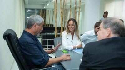 Malena Galmarini firmó un convenio con Jorge Ferraresi para reactivar obras para Avellaneda