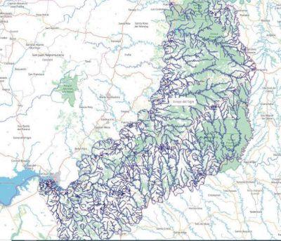 Difunden mapa hidrográfico de Misiones en plataforma digital
