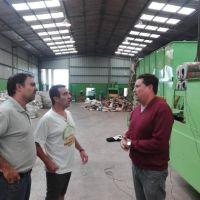 El secretario de Obras Públicas de Las Flores visitó la Planta de Reciclado