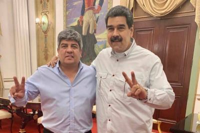Pablo Moyano visitó a Nicolás Maduro y cuestionaron a la gestión de Macri